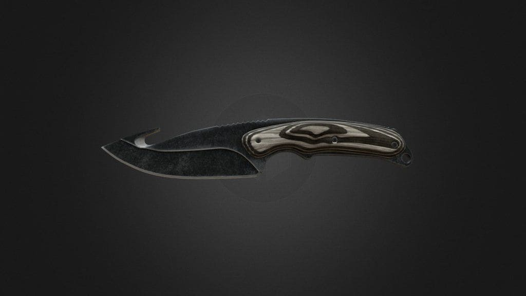 Gut Knife - Black Laminate