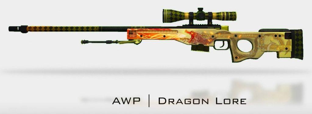 Souvenir AWP - Dragon Lore skin